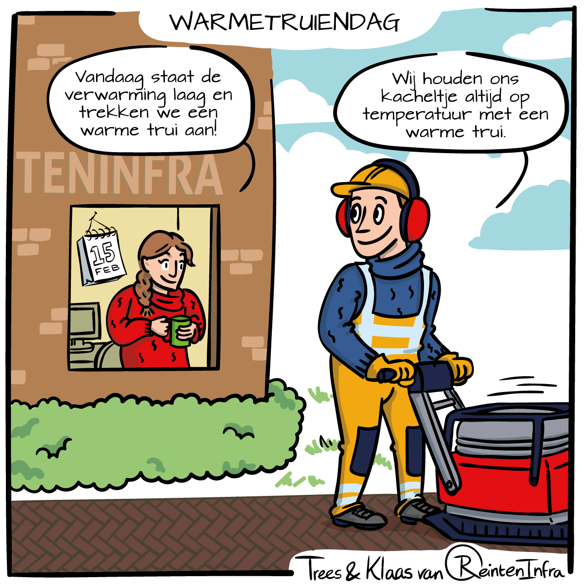 Cartoon Warmetruiendag